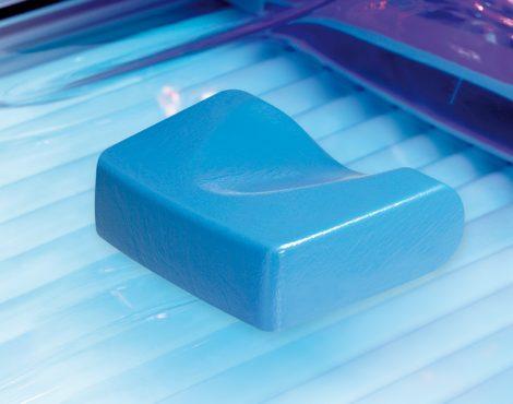 Színes UV álló fejpárna kék színben