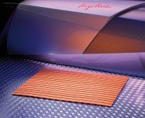 Műanyag kilépő szőnyeg narancs színben