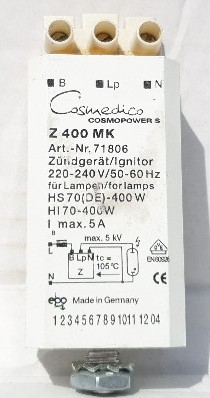 Ergoline szolárium arcbarnító gyújtó 400 W alkatrész