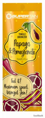 Supertan Papaya & Pomegranate tingle bronzer 15 ml szoláriumkrém