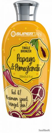 Supertan Papaya & Pomegranate Tingle Bronzer 200 ml szoláriumkrém