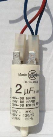 UWE szolárium motorindító kondenzátor 2 μF alkatrész